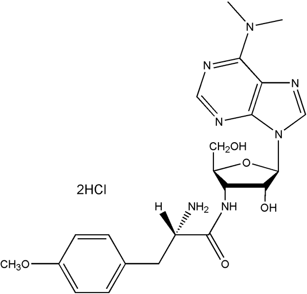 Puromycin Dihydrochloride Structure